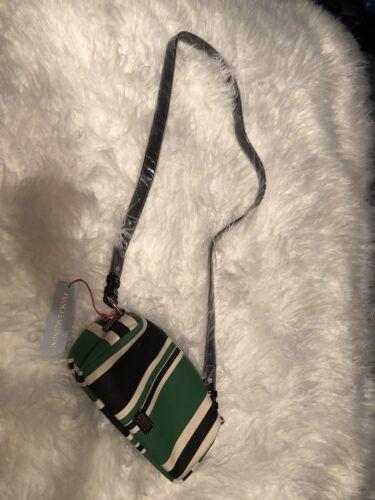 Valentine Tasche Piper Frances Streifen Nwt Geldbrse Crossbody amp; Canvas Grᄄᄍn Schwarz 48HqHdwx