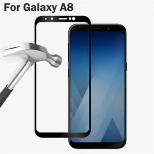 2018-Black-Full-Cover-Tempered-Glass-Screen-Protector-For-Samsung-Galaxy-A8