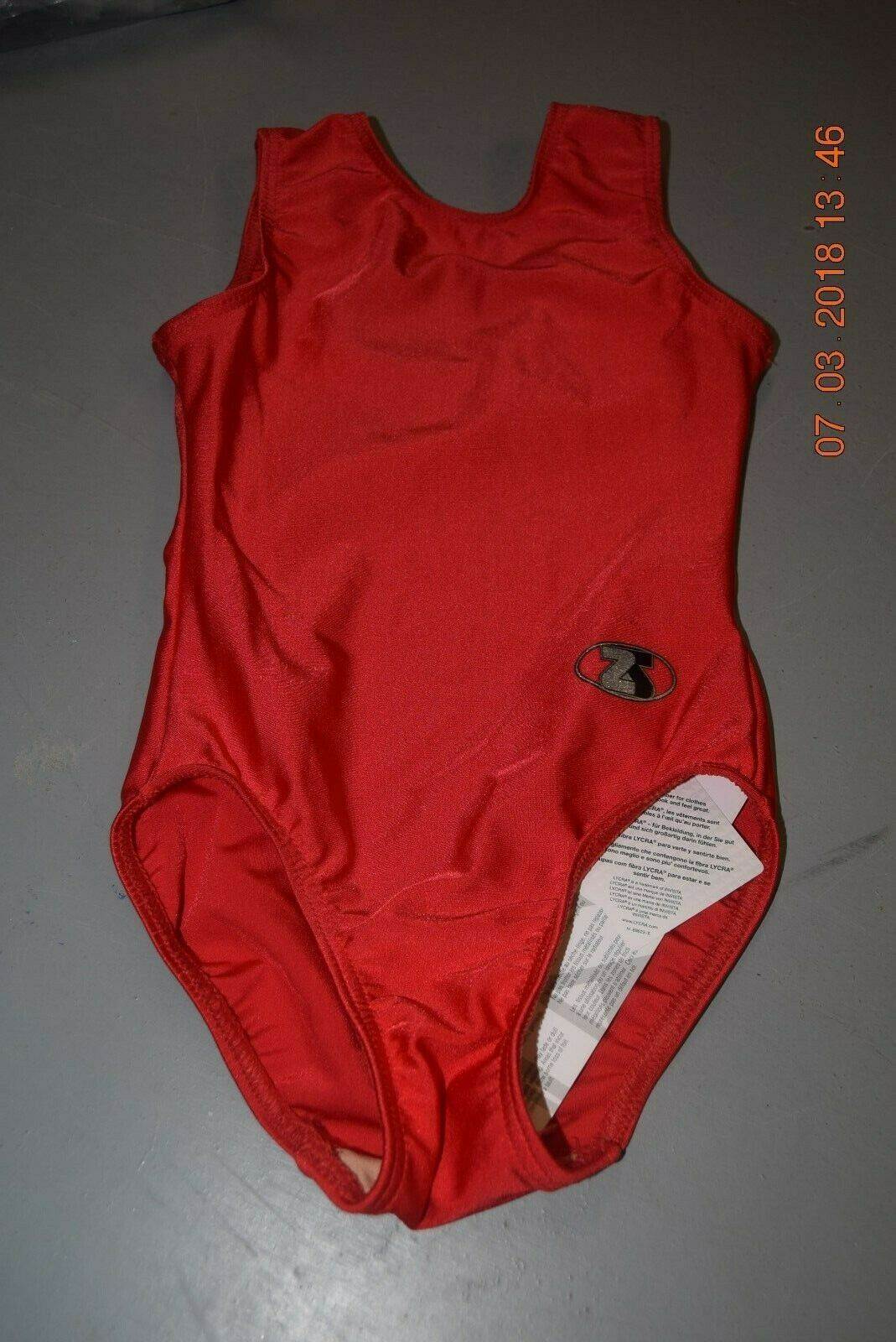 Red The zone CADENCE sleeveless lycra leotard - assorted sizes