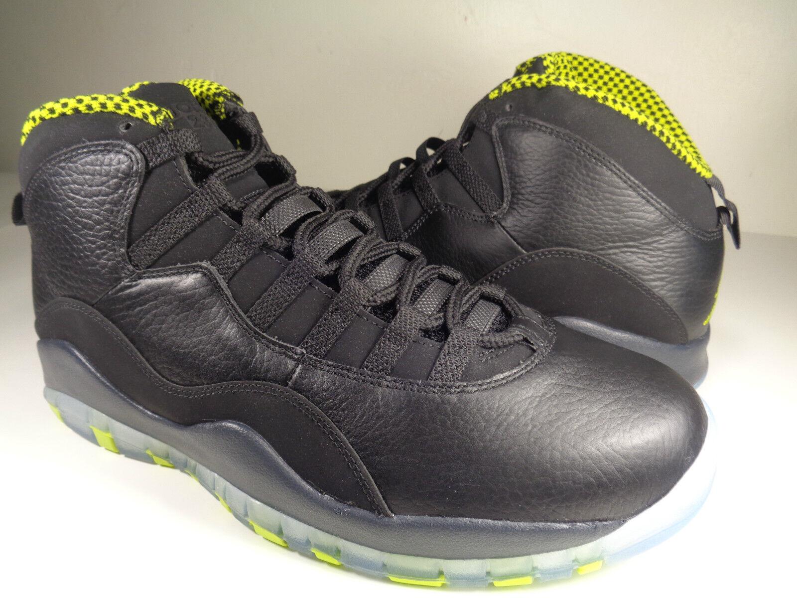 Nike Air Jordan Retro 10 X Venom Green Cool Grey Anthracite SZ 10 (310805-033)