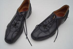 Studio-POLLINI-Damen-Schuhe-Schnuerschuhe-bequem-Gr-37-schwarz-weiches-Leder
