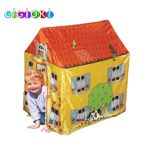 Tenda Casetta per bambini Motivo Fattoria Casa Poliestere Esterno 95x72x102 cm