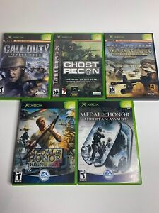 Call-Of-Duty-Finest-Hour-Ghost-Recon-Ten-Hammers-Original-Xbox-Game-Lot-5