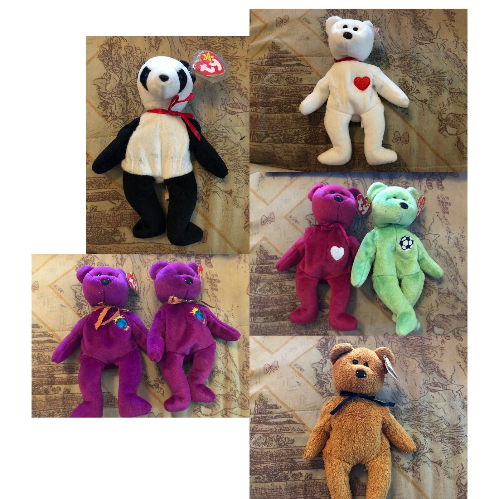 Huge Lot of THIRTY SEVEN (37) used Beanie Babies, Still with Tags