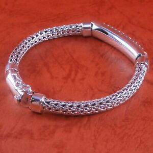 New-Bali-Tulang-Naga-Foxtail-Franco-Wheat-925-Sterling-Silver-Bracelet-7-75-034-45g