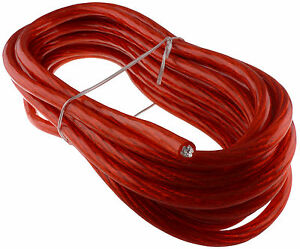 17 FT feet 8 GAUGE RED POWER WIRE CABLE 8AWG CAR AUDIO BOAT TRUCK ...