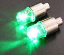 New 2pcs Green LED Tyre Tire Valve Caps Light Bike Car Valve cap led lights bulb