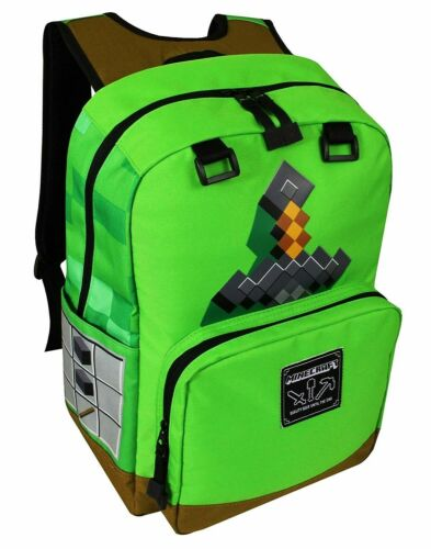 "MINECRAFT SWORD ADVENTURE 17/"" FullSize Premium Backpack School Travel or Camping"