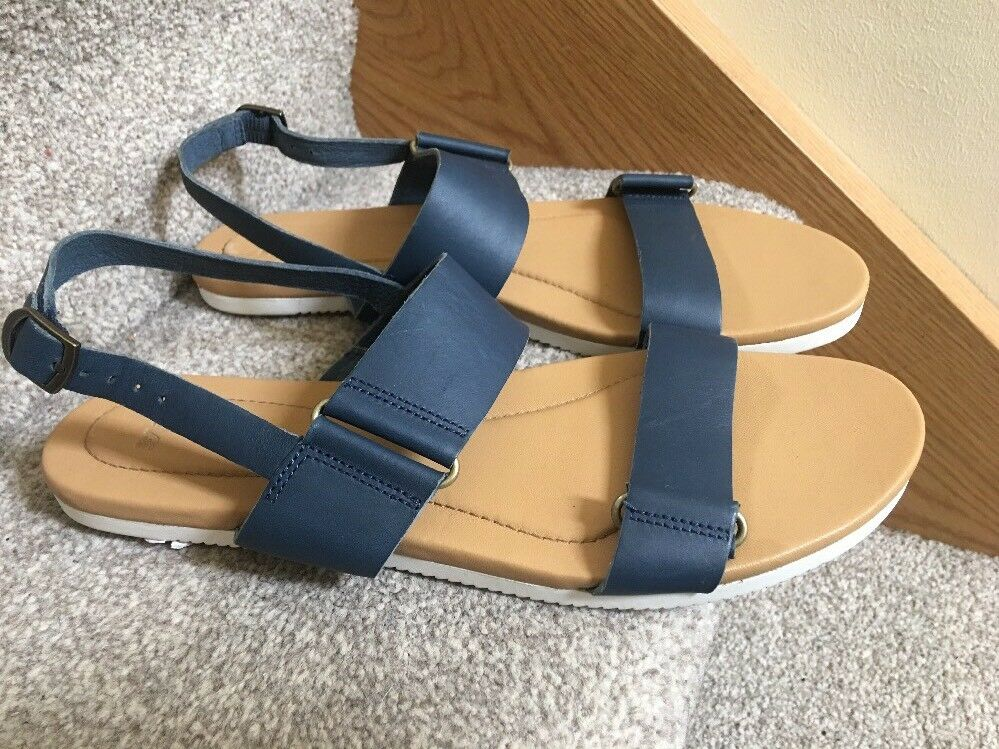 Teva Avalina Sandal Leather Blue Womens Athletic Sandals Blue Leather BNWOB f92803