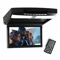 10.1 Inch Hd Led Overhead Monitor Flip Down Roof Mount Monitor W/ Remote Black