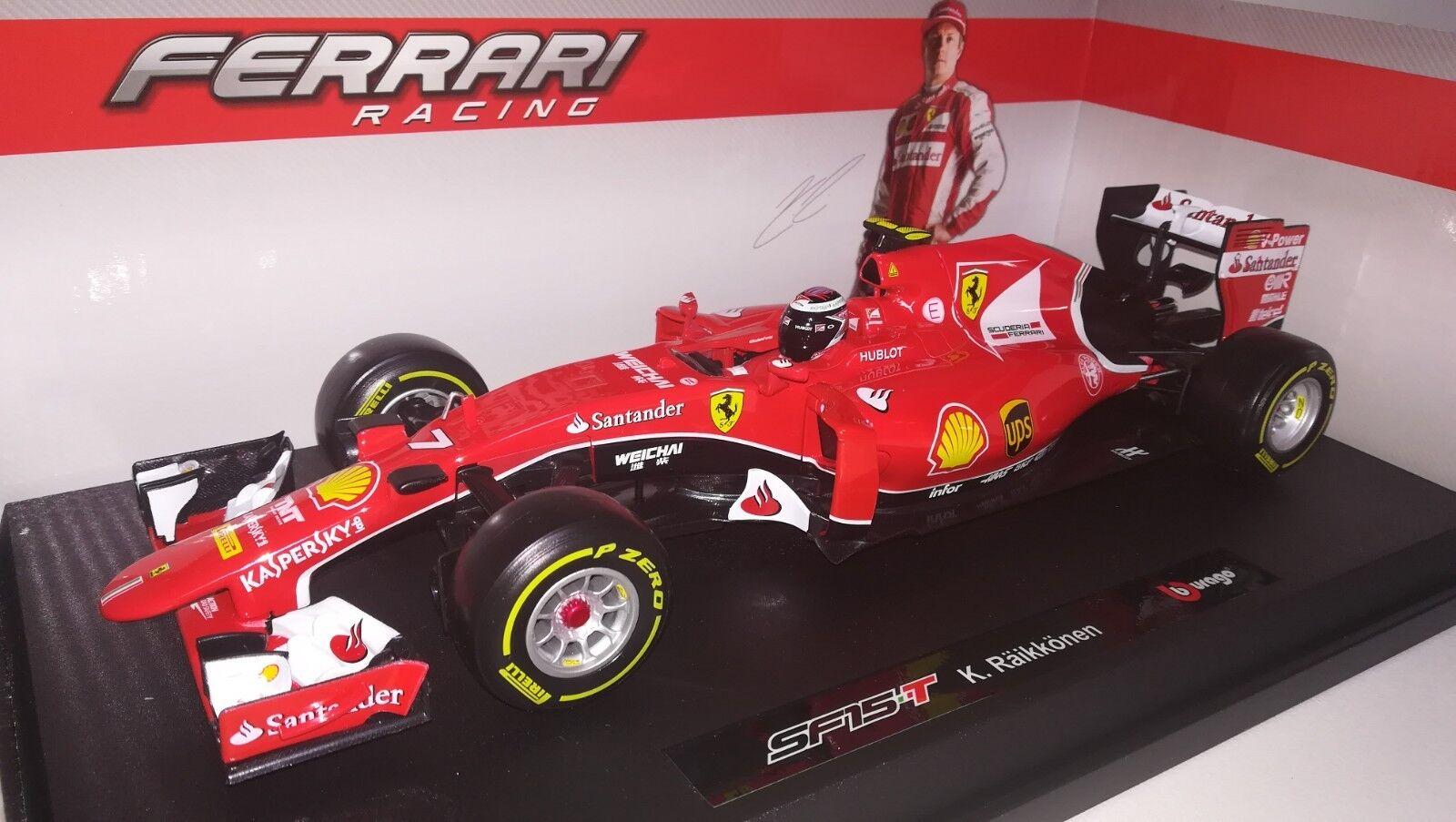 Bburago F1 Ferrari SF15-T 2015 Kimi Raikkonen 1 18
