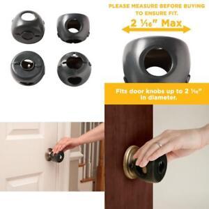 Details About Child Proof Safe Door Knob Cover Children Safety Lock Toddler  Kids Guard 4 Pack