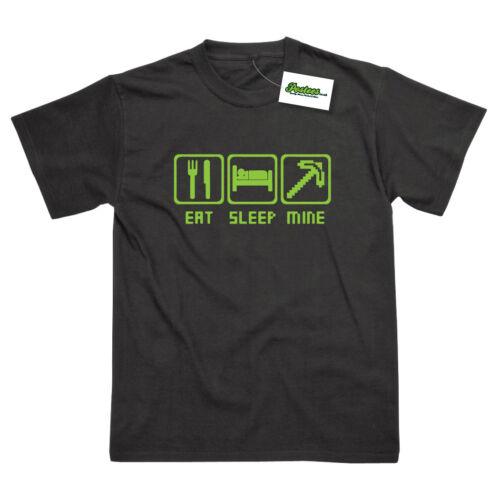 Eat Sleep Mine Game Inspired Printed T-Shirt
