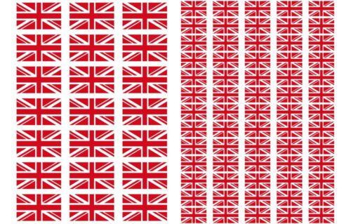 Great Britain Flag Stickers rectangular 21 or 65 per sheet