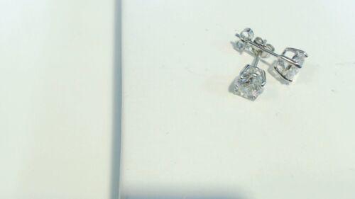 3.00 Ct Rond Blanc Zircone Cubique Argent 925 Or Blanc Or Plaqué 7 mm