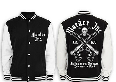 Murder Inc. Collegejacke Mafia,pate,public,enemy,outlaw,al Capone,crime,cocaine