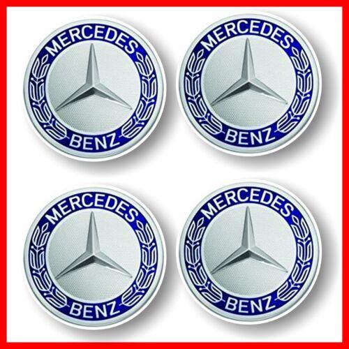 Adesivi tipo Mercedes Retro vintage effetto 3D per cerchi ruote-coprimozzo