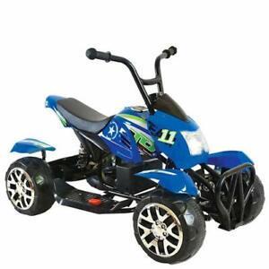 Quad électrique pour batterie rechargeable bleu bébé moto 12v enfants