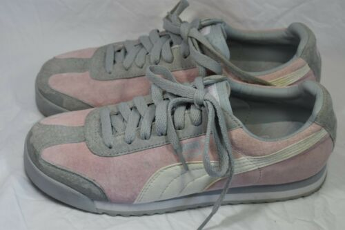 PUMA Roma suede leather pink pastel & Gray Women'