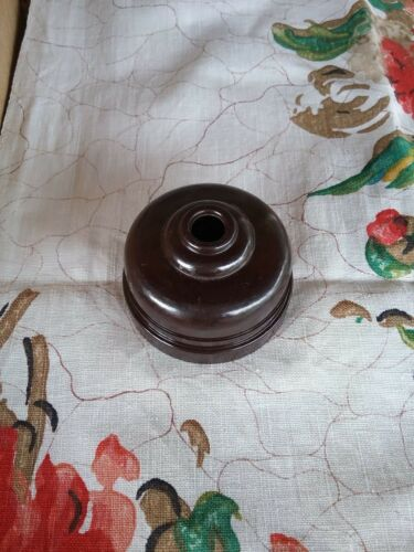 Ring Grip Brown Bakelite Ceiling Rose #15576