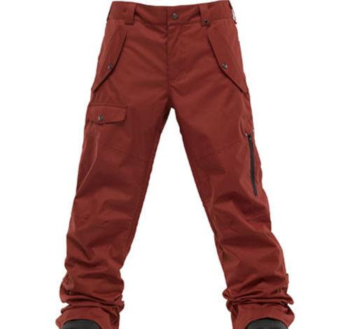Burton Men TWC Indecent Exposure Snowboard Pants (L) Biking ROT