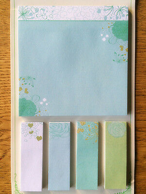 150 page Novelty Cute Pretty floral post it notes Sticky Notes with page flags