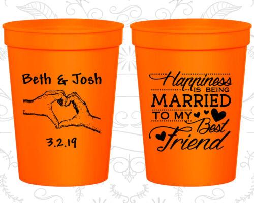 Personalized Wedding Stadium Cups Custom Cup (511) Romantic, Wedding Party