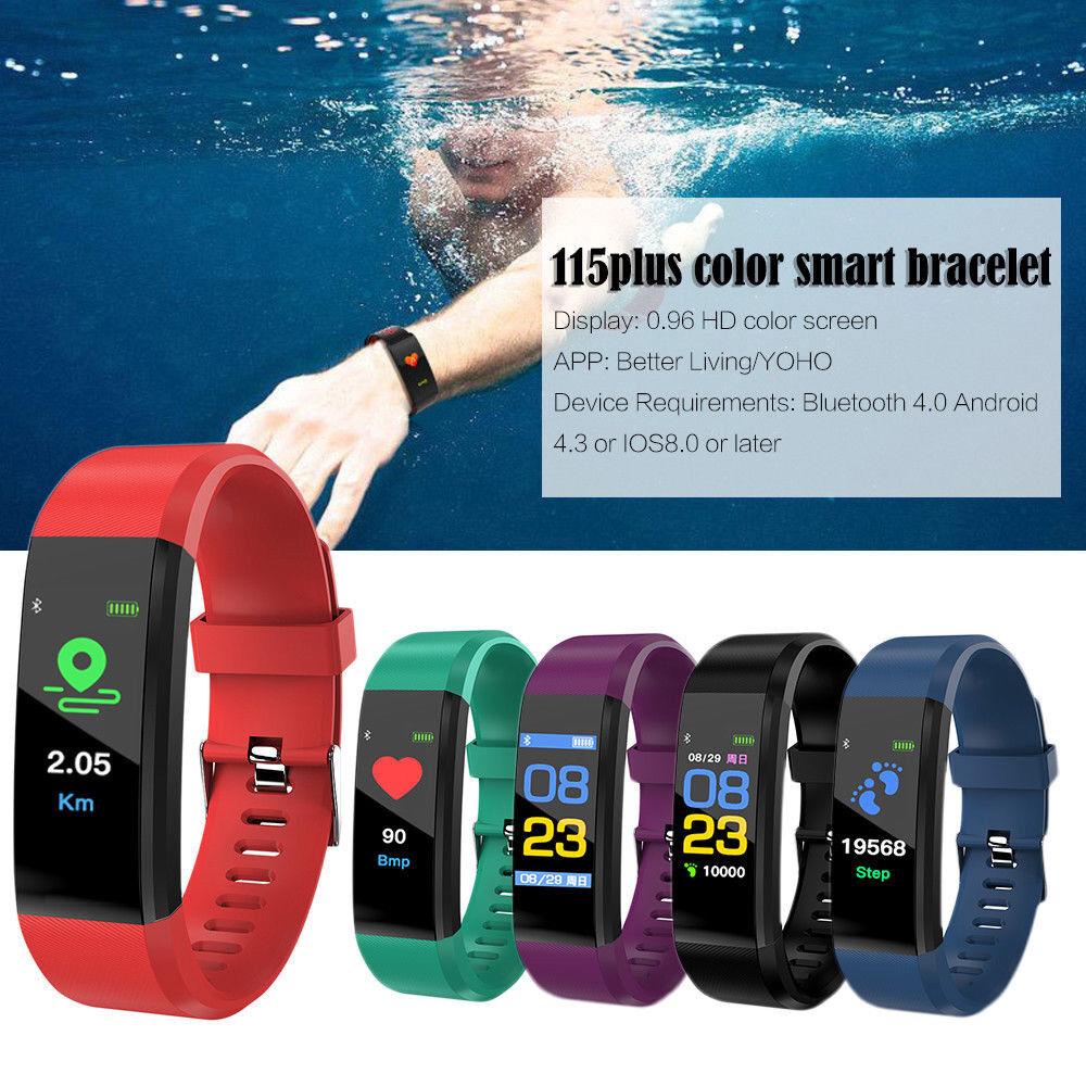 ID115 Plus Bluetooth Smart Watch Fitness Tracker Bracelet Heart Rate Steps UK