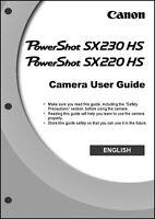 Canon Powershot Sx220 Hs Sx230 Hs Digital Camera User Instruction Guide Manual