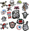 miniature 1 - PIRATE SKULL Embroidered Biker Patches Skeleton Iron / Sew on Badges Grim Reaper
