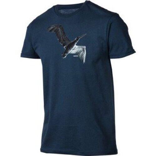Nixon Fly Short Sleeve Tee T-Shirt S Indigo S1653374-02