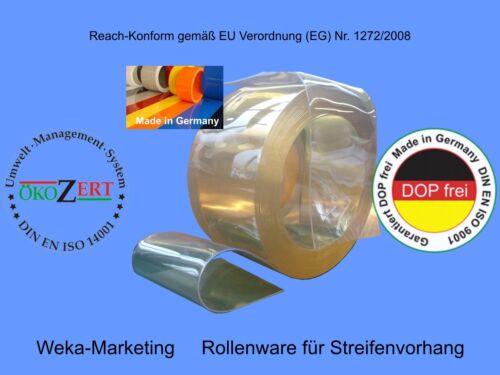 Lamellenvorhang Rollenware Weich PVC   300 x 3 x 50 m helltransparent