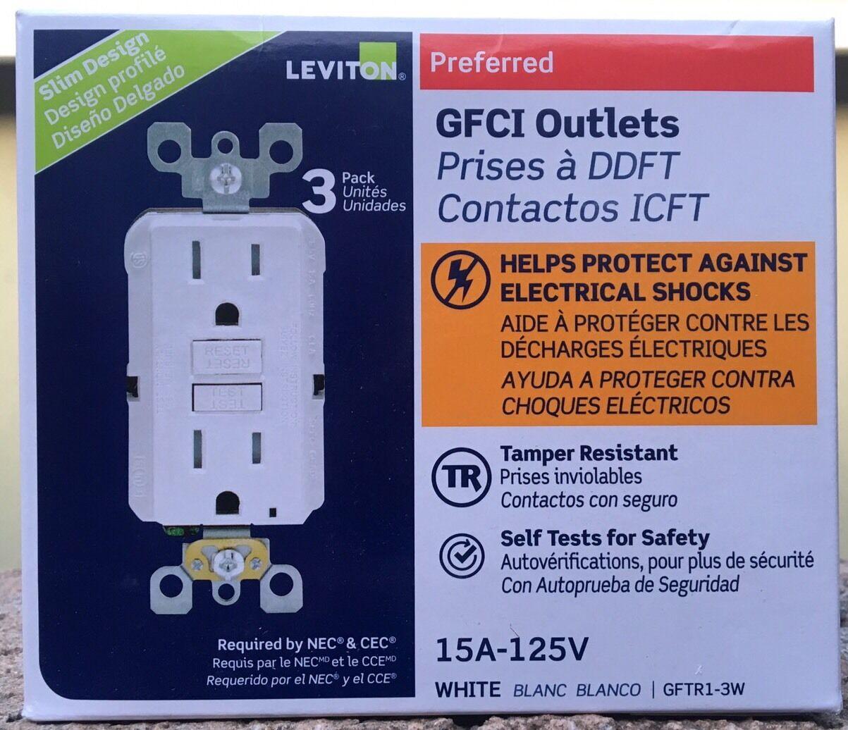 Leviton Preferred 15a 125v GFCI Outlets LightAlmond   eBay