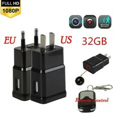 Full HD 1080p USB Charger /& Security undetectable Camera US Plug EU AU Plug