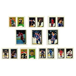 O-Pee-Chee NHL Hockey Decal Sticker Trading Cards - Lot of 10 - 1978 Collectible