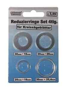 REDUZIERRING-Set-Aussen-30-auf-16-20-amp-25-4-20-auf-16-mm-fuer-Kreissaegeblatt