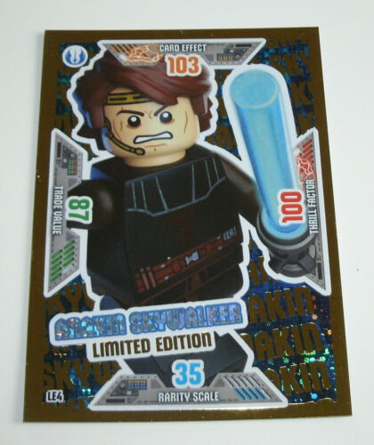 LE4 Anakin Skywalker Limited Edition LEGO Star Wars Trading Card Game Serie 2