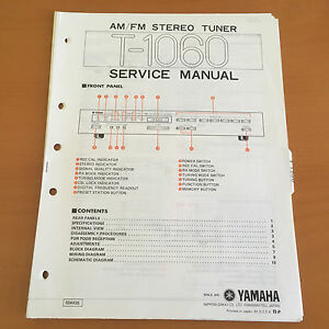 yamaha t 1060 tuner repair service manual & schematics, parts list yamaha grizzly schematics image is loading yamaha t 1060 tuner repair service manual amp