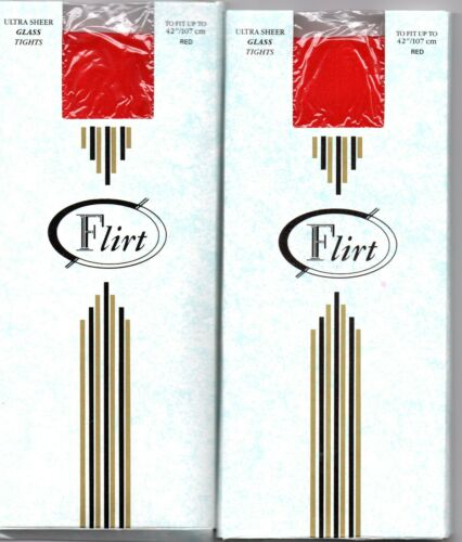 """2 x pairs Tights FLIRT Red up to 42/"""" D"""
