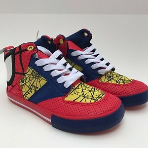 de20847c896 Image is loading Disney-Store-Spider-man-Sneakers-Boys-Tennis-Spiderman-
