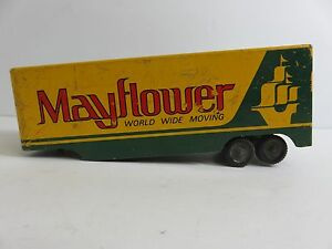 Vintage ralstoy 16 mayflower moving diecast metal trailer for Mayflower car shipping