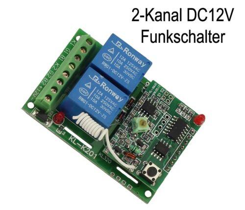 télécommandes 12 V 2 canaux Universel Radio Émetteur Récepteur Interrupteur FUNKSCHALTER
