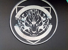 Ferocious Wolf Car Fuel Gas Tank Cap Stickers Adhesive Graphic Decal (White)