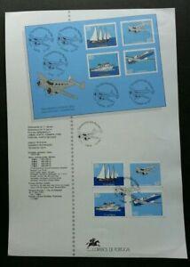 SJ-Portugal-Inter-island-Transport-1991-Aviation-Ship-stamp-on-info-sheet