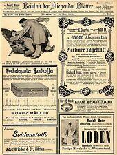 Moritz Mädler Leipzig Handkoffer Grieder & Cie Zürich Holland-Amerika Linie 1899