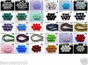Freeshipping-100Pcs-Top-Quality-Czech-Crystal-Faceted-Rondelle-Beads-6x-8mm-Pick