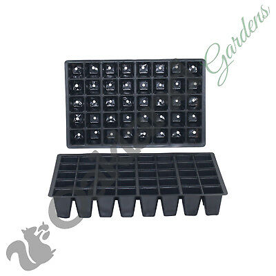 100 X 40 Cell Full Size Seed Tray Inserts Plug Trays Bedding plant Packs Plasti