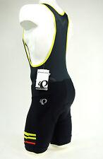 Pearl Izumi 2017 Elite Escape Cycling Bib Shorts Black/Citron Yellow, Small