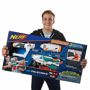 NERF Modulus TriStrike Blaster Toy Gun - <span itemprop='availableAtOrFrom'>St. James, Northampton, United Kingdom</span> - NERF Modulus TriStrike Blaster Toy Gun - St. James, Northampton, United Kingdom