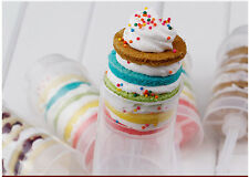 10 Plastic Push Pop Containers Cake Poppers Up Shooters Cupcake Supplies Candy